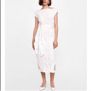 Crease-effect Long Dress